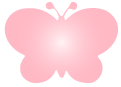 pink butterfly icon